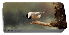 Black Capped Chickadee Portable Battery Charger by Darren Fisher