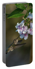 Black-chinned Hummingbird Portable Battery Charger by Martina Thompson