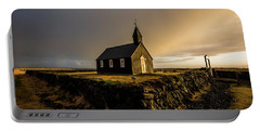 Black Church Golden Hour Portable Battery Charger