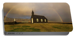 Black Church Rainbow Portable Battery Charger