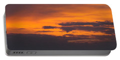 Black Cloud Sunset  Portable Battery Charger
