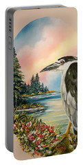 Flying Lamb Productions                     Black Crowned Heron Portable Battery Charger