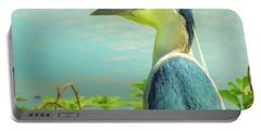 Black-crowned Night Heron Digital Art Portable Battery Charger