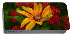 Black-eyed Susan And Yarrow Portable Battery Charger