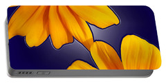 Black-eyed Susans On Blue Portable Battery Charger