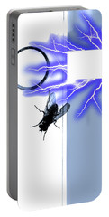 Black Fly On Tablet Portable Battery Charger