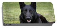 Black German Shepherd Dog II Portable Battery Charger