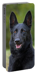Black German Shepherd Dog Portable Battery Charger