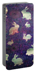 Black Holes And Bunnies Portable Battery Charger