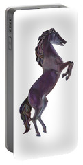 Portable Battery Charger featuring the mixed media Black Horse by Elizabeth Lock