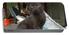 Black Kitten Portable Battery Charger