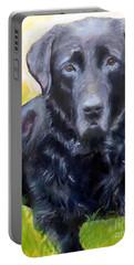 Black Lab Pet Portrait Portable Battery Charger