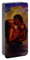 Black Love Portable Battery Charger by Emery Franklin