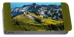 Black Mesa Rocky Peak In Autumn Portable Battery Charger