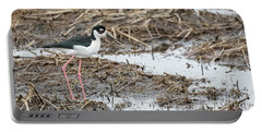 Black-necked Stilt 2017-1 Portable Battery Charger by Thomas Young