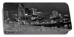 Black Night In Nashville Portable Battery Charger