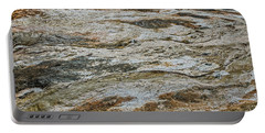 Portable Battery Charger featuring the photograph Black Obsidian Sand And Other Textures by Sue Smith