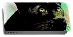Black Panther Animal Art Portable Battery Charger