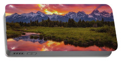 Black Ponds Sunset Portable Battery Charger