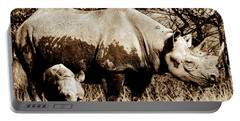 Black Rhino And Youngster Portable Battery Charger