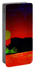 Black Rhino  Evening Portable Battery Charger by Justin Moore