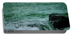 Black Rocks Seascape Portable Battery Charger