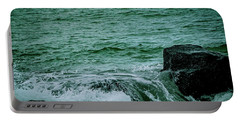 Black Rocks Seascape Portable Battery Charger