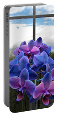 Portable Battery Charger featuring the photograph Black Sapphire Orchids  by Aaron Berg