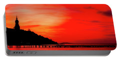 Black Sea Turned Red Portable Battery Charger by Reksik004