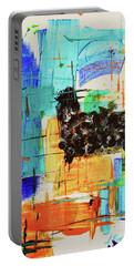 Portable Battery Charger featuring the painting Black Sheep by Jeanette French