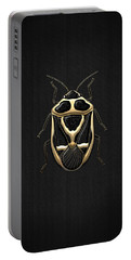 Black Shieldbug With Gold Accents  Portable Battery Charger