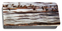 Portable Battery Charger featuring the photograph Black Skimmers Of Long Beach - Mississippi - Birds by Jason Politte
