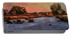 Portable Battery Charger featuring the photograph Black Squirrel Creek Fall Scape by Ellen Heaverlo