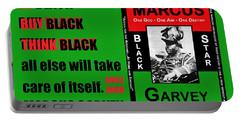 Black Star Garvey Portable Battery Charger