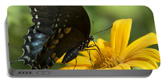Black Swallowtail Drinking Portable Battery Charger