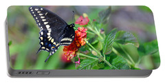 Black Swallowtail Portable Battery Charger by Kay Lovingood