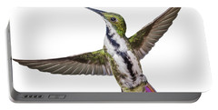 Portable Battery Charger featuring the photograph Black Throated Mango by Rachel Lee Young