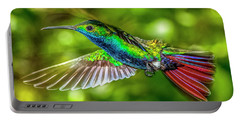 Portable Battery Charger featuring the photograph Black Throated Mango Sparkles by James Solomon