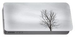 Black Tree White Sky Portable Battery Charger