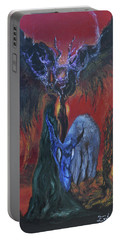 Portable Battery Charger featuring the painting Blackberry Thorn Psychosis by Christophe Ennis