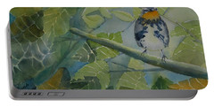 Blackburnian Warbler I Portable Battery Charger by Ruth Kamenev
