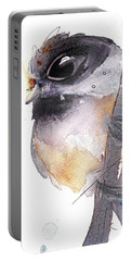 Portable Battery Charger featuring the painting Blackcapped Chickadee by Dawn Derman