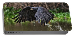 Portable Battery Charger featuring the photograph Blackhawk Fishing #1 by Wade Aiken