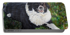 Portable Battery Charger featuring the painting Blackie by Marilyn  McNish