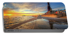 Portable Battery Charger featuring the photograph Blackpool Sunset by Yhun Suarez