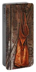 Blacksmith Apron Portable Battery Charger by Rowana Ray