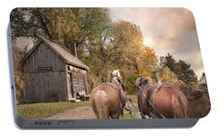 Portable Battery Charger featuring the photograph Blacksmith Bound by Robin-Lee Vieira