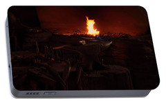 Portable Battery Charger featuring the digital art Blacksmith Shop by Chris Flees