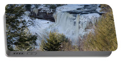 Blackwater Falls In Winter Portable Battery Charger
