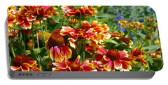 Blanket Flowers Portable Battery Charger by Sharon Talson